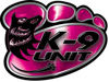 K-9 Law Enforcement Police Dog Paw Decal in Pink