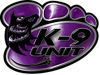 K-9 Law Enforcement Police Dog Paw Decal in Purple