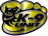 K-9 Law Enforcement Police Dog Paw Decal in Yellow