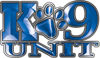 K-9 Unit Law Enforcement Police Dog Paw Decal in Blue
