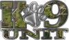 K-9 Unit Law Enforcement Police Dog Paw Decal in Camouflage