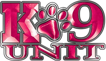 K-9 Unit Law Enforcement Police Dog Paw Decal in Pink