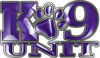 K-9 Unit Law Enforcement Police Dog Paw Decal in Purple