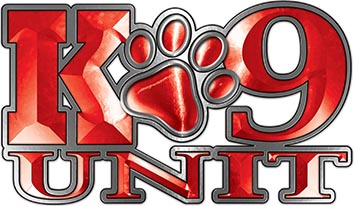 K-9 Unit Law Enforcement Police Dog Paw Decal in Red