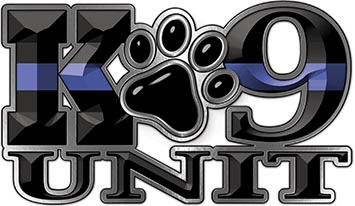 K-9 Unit Law Enforcement Police Dog Paw Decal with Thin Blue Line