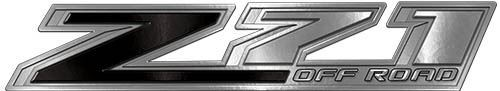 Chevy Z71 Off Road Decals in Black