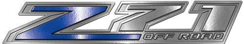 Chevy Z71 Off Road Decals in Blue