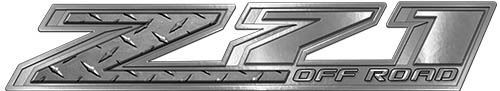 Chevy Z71 Off Road Decals in Diamond Plate