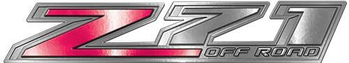 Chevy Z71 Off Road Decals in Pink