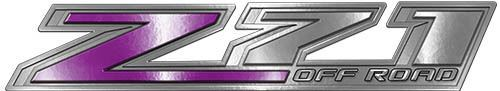 Chevy Z71 Off Road Decals in Purple