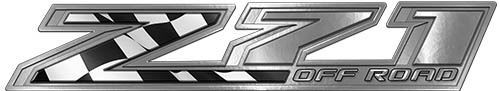 Chevy Z71 Off Road Decals with Racing Flag