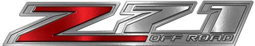 Chevy Z71 Off Road Decals in Red