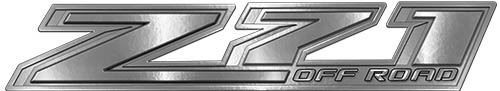 Chevy Z71 Off Road Decals in Silver