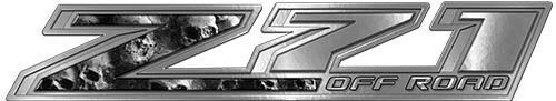 Chevy Z71 Off Road Decals with Gray Skulls