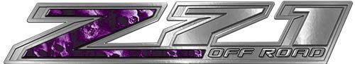 Chevy Z71 Off Road Decals with Purple Skulls