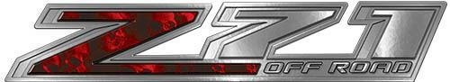 Chevy Z71 Off Road Decals with Red Skulls