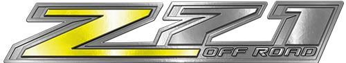 Chevy Z71 Off Road Decals in Yellow