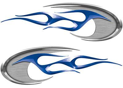 Motorcycle Tank Decals in Blue