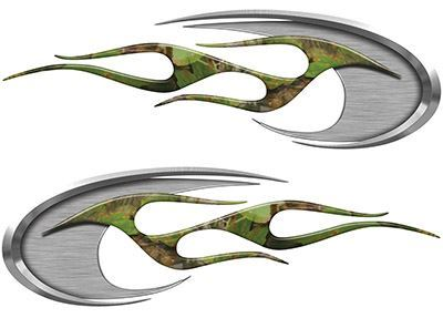 Motorcycle Tank Decals in Camouflage