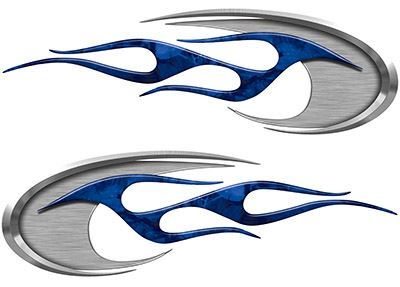 Motorcycle Tank Decals in Blue Camouflage