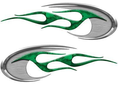 Motorcycle Tank Decals in Green Camouflage