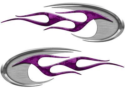 Motorcycle Tank Decals in Purple Camouflage