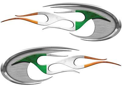 Motorcycle Tank Decals with Irish Flag