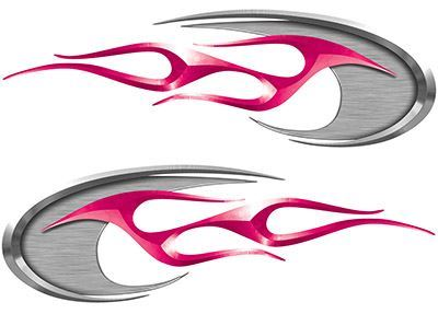 Motorcycle Tank Decals in Pink
