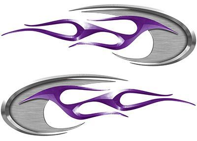 Motorcycle Tank Decals in Purple