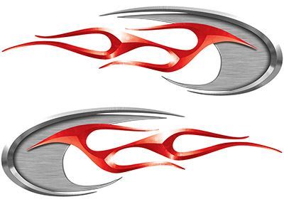 Motorcycle Tank Decals in Red
