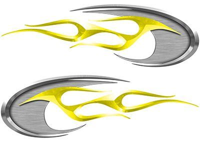 Motorcycle Tank Decals in Yellow