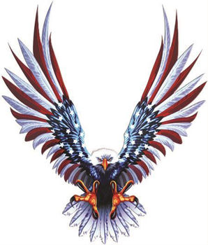 Bald Eagle American Flag Wings Decal Weston Ink