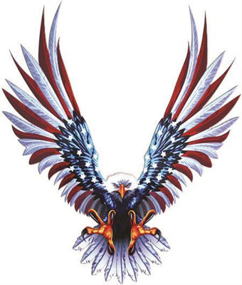 Bald Eagle American Flag Wings Decals