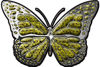 Chrome Butterfly Decal in Yellow