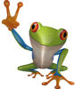 Cool Peace Frog Decal