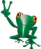 Cool Peace Frog Decal in Green