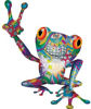 Cool Peace Frog Decal with Psychedelic Art