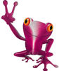 Cool Peace Frog Decal in Pink