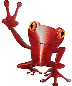Cool Peace Frog Decal in Red