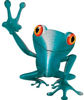 Cool Peace Frog Decal in Teal
