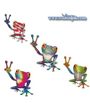 Cool Peace Frog Decals