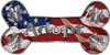 Dog Bone Animal Adoption with Paws Sticker Decal with American Flag