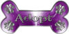 Dog Bone Animal Adoption with Paws Sticker Decal in Purple