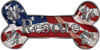 Dog Bone Animal Rescue Paws Sticker Decal with American Flag