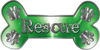 Dog Bone Animal Rescue Paws Sticker Decal in Green