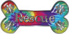 Dog Bone Animal Rescue Paws Sticker Decal in Tie Dye Colors