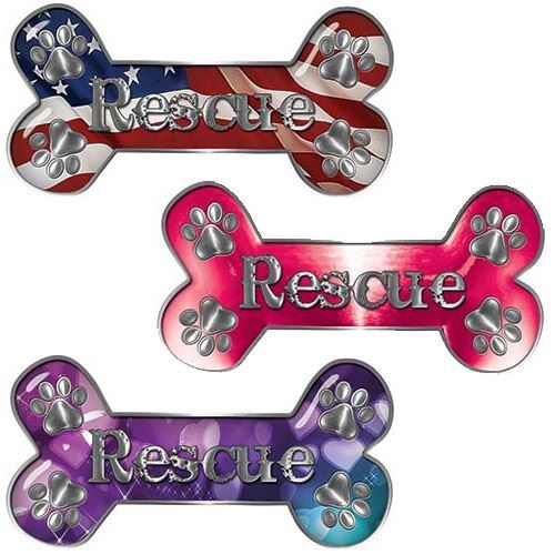 Pet Rescue Decal with Paws