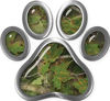 Dog Cat Animal Paw Sticker Decal in Camouflage
