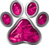 Dog Cat Animal Paw Sticker Decal in Pink Camouflage