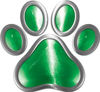 Dog Cat Animal Paw Sticker Decal in Green